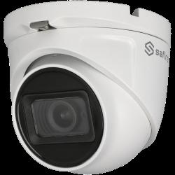 Cámara SAFIRE minidomo 4 en 1 (cvi, tvi, ahd y analógico) de 5 megapíxeles y óptica varifocal motorizada (zoom)