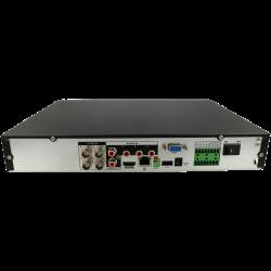 Grabador 5 en 1 (hd-cvi, hd-tvi, ahd, analógico y ip) DAHUA de 4 canales y 2 mpx de resolución máxima